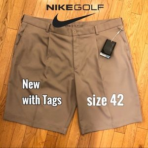 Nike Golf Shorts NWT Pleated Dri-fit Khakis